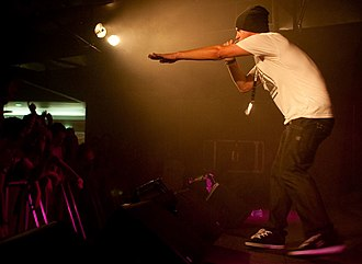 Illy (rapper) - Illy performing at the University of Tasmania in 2011.