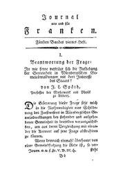 Beantwortung der Frage: In wie ferne verträgt sich die Aufhebung der Gemeinheit in Nürnbergischen Gemeindwaldungen mit dem Interesse des Staats?, S. 385-407
