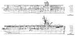 Inboard and outboard profiles of a Casablanca-class escort carrier, 1946.png
