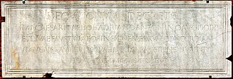 Marriage in ancient Rome - Inscription (CIL 14.5326) from Ostia Antica recording a decree that newlyweds are to pray and sacrifice before the altar to the imperial couple Antoninus Pius and Faustina as exemplifying Concordia, marital harmony