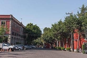 Colonia Insurgentes Mixcoac - Augusto Rodin street with Universidad Panamericana to the right