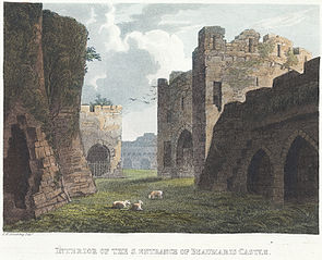 Interior of the s.entrance of Beaumaris Castle