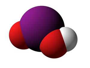 Iodous acid - Image: Iodous Acid 3d V