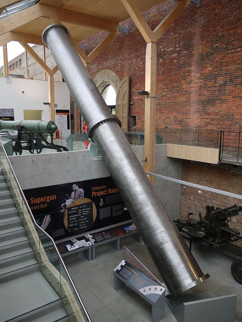 Two sections of Big Babylon that have been bolted together at Royal Armouries, Fort Nelson, Portsmouth.