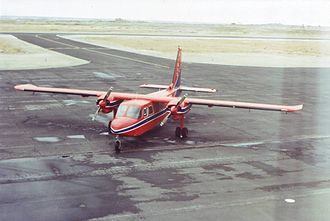 Transport in the Falkland Islands - BN-2B Islander VP-FBD operated by the Falkland Islands Government Air Service, Stanley, 1994