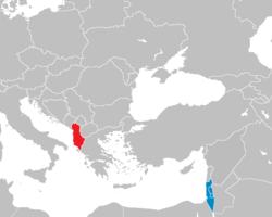 Israel-Albenia locator.png