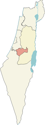 Localisation de District de Jérusalem en Israël