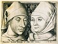 Israhel van Meckenem - Self-portrait with his wife (circa 1490) - colour.jpg