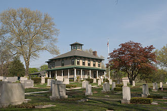 Saddle Brook, New Jersey - House in Riverside Cemetery