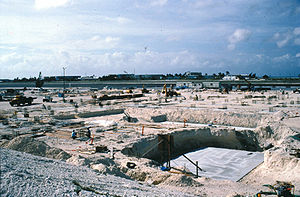 Johnston Atoll Chemical Agent Disposal System - Site excavation early on in the construction of JACADS