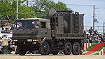 JGSDF Type 73 ougata truck(34-7972) with JMMQ-M5 left front view at Camp Senzo May 18, 2014.jpg