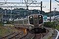 JRE E721 at Matsushima Station 2016-10-10 (30646042496).jpg
