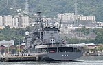 JS Chihaya(ASR-403) left rear view at JMSDF Kure Naval Base May 6, 2018 02.jpg