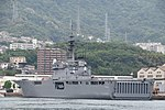 JS Shimokita(LST-4002) left rear view at JMSDF Kure Naval Base May 6, 2018 01.jpg