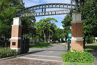 Jacksonville University - The main entrance of Jacksonville University