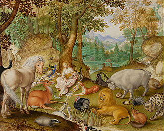 Jacob Hoefnagel - Orpheus charming the animals