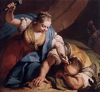 Power of Women - Jacopo Amigoni, Jael and Sisera, 1739