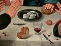 Jacopo da Ponte (Bassano) Supper at Emmaus Kimbell detail 02.jpg