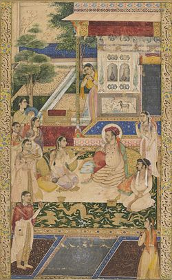 Jahangir and Prince Khurram Entertained by Nur Jahan.jpg
