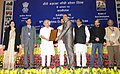 Jairam Ramesh presented the awards for best initiatives and innovations in the Job Scheme, at the 9th MGNREGA Divas, in New Delhi. The Ministers of State for Rural Development.jpg