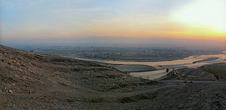 View towards the city from the Kabul River banks to the north Jalalabad, Afghanistan (5397994701).jpg