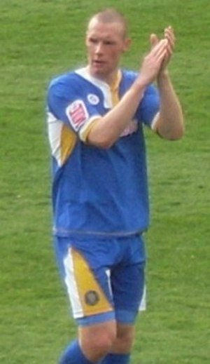 James Constable - Constable playing for Shrewsbury Town in 2008