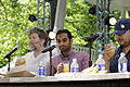 James Murphy, Aziz Ansari, and David Chang at The Great GoogaMooga Festival.jpg