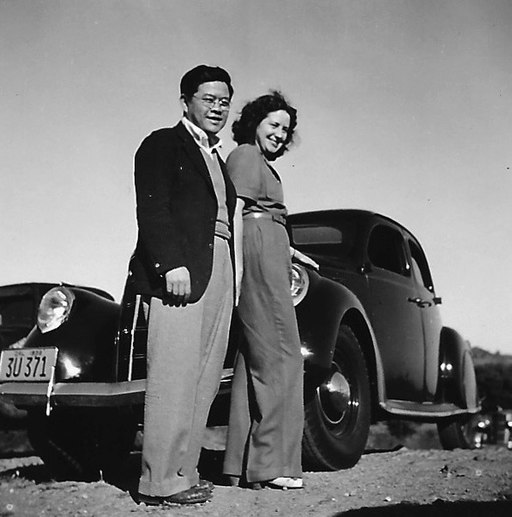 James Wong Howe with his wife, Sanora Babb