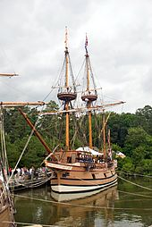 Replica of the ship Susan Constant