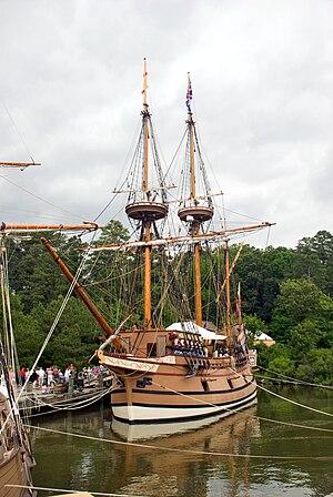 Susan Constant - Image: Jamestown Ships