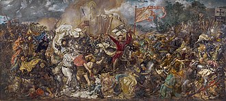 Polish–Lithuanian–Teutonic War - Battle of Grunwald by Jan Matejko (1878)