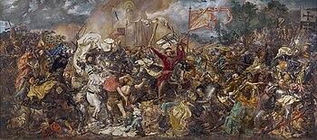 "Bitwa pod Grunwaldem (""Battle of Grunwald""), historical painting by Jan Matejko, oil on canvas, 1872–1878, National Museum Warsaw"