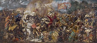 Battle of Grunwald and Vytautas the Great in the centre