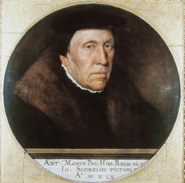 Jan van Scorel by Anthonis Mor van Dashorst