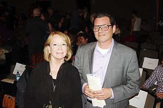 National Book Critics Circle - NBCC past president Jane Ciabattari and then-current president Eric Banks at the 2011 Awards, March 2012