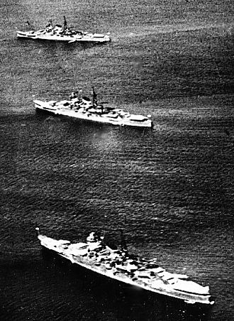 "1st Naval Armaments Supplement Programme - IJN cruisers Mogami, Mikuma, Kumano all constructed under the ""Circle One"" plan"
