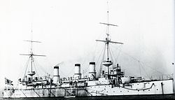 Japanese cruiser Azuma at Portsmouth