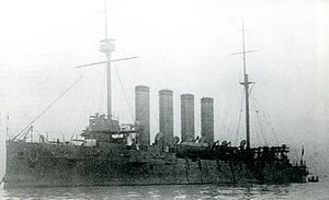 Japanese cruiser Soya - Image: Japanese cruiser Soya in 1911