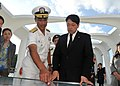 Japanese defense minister visits USS Arizona 130702-N-IT566-117.jpg