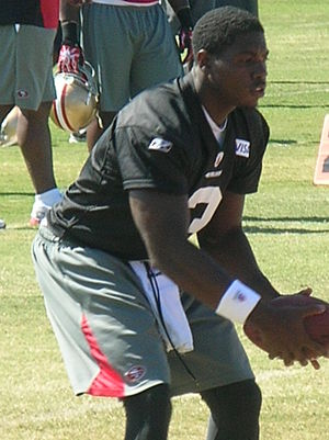 Jarrett Brown - Brown at 49ers training camp in August 2010.
