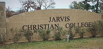 Jarvis Christian College - Image: Jarvis Christian College, Hawkins, TX, entrance sign IMG 0303