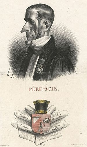 Jean-Charles Persil - Caricature by Honoré Daumier from La Caricature (1833)