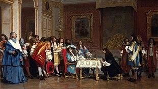 Luigi XIV invita Molière per condividere la sua cena, di Jean-Léon Gérôme.
