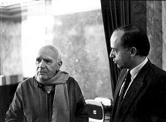 Hans Köchler - Hans Köchler, right, with French poet Jean Genet who was his guest in Vienna, Austria, for a reading from his text on Palestine in December 1983