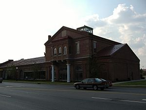 Jeffersonville Quartermaster Depot - A picture of the front of the Quadrangle, September 2006.
