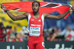 2013 World Championships in Athletics – Men's 400 metres hurdles - Gold medalist Jehue Gordon