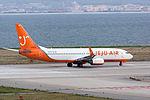 Jeju Air, 7C1383, Boeing 737-86Q, HL8234, Departed to Seoul, Kansai Airport (17195740412).jpg