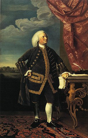 Jeremiah Lee Mansion - Jeremiah Lee, oil on canvas, John Singleton Copley, 1769. Wadsworth Atheneum