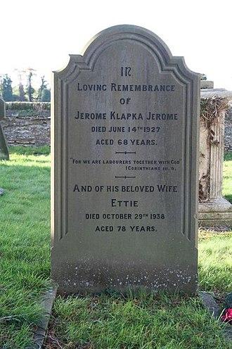 Jerome K. Jerome - Jerome's grave at Ewelme (2009)