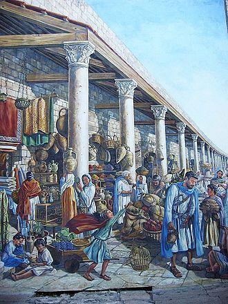Jewish Quarter (Jerusalem) - Mural of Roman cardo, Jewish Quarter